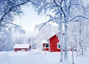 finland-red-house-winter-beitrag-loeydae-scandinavia-shutterstock