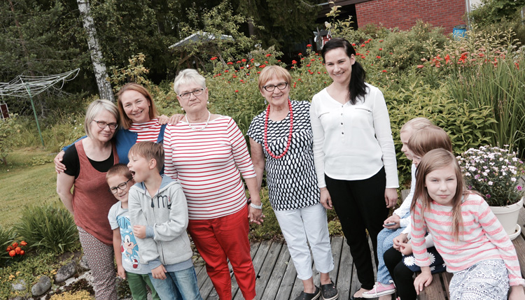 family in Finland 3 generations of girls