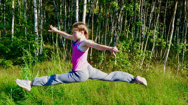 sonia jumps in finland summer for gotta joga yoga app