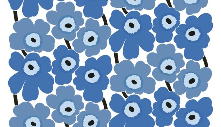 Marmekko Unikko small blue pieni sininen