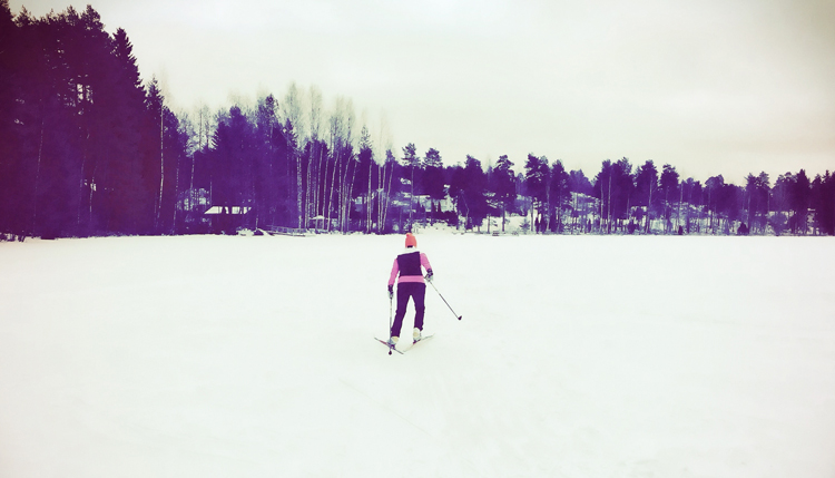 cross-country skiing gotta joga