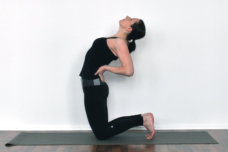 yoga camel pose gotta joga app