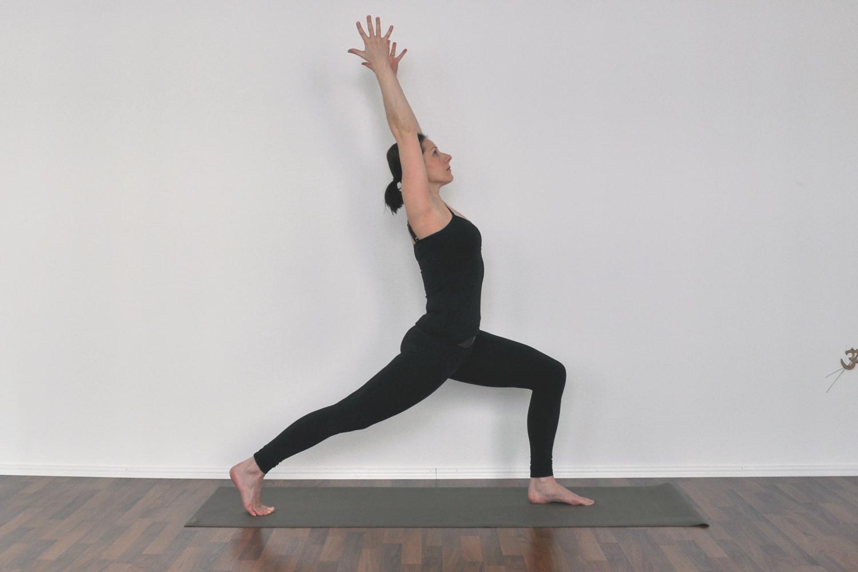 yoga warrior 1 pose gotta joga app