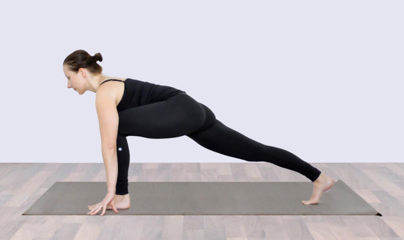 posture du croissant bas yoga