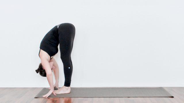 uttanasana standing forward fold